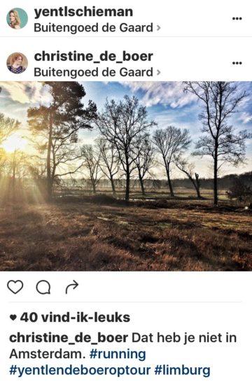 Christine de Boer en Yentl Schieman theatertour Limburg te gast bij Buitengoed de Gaard Vierseizoenenhuisje