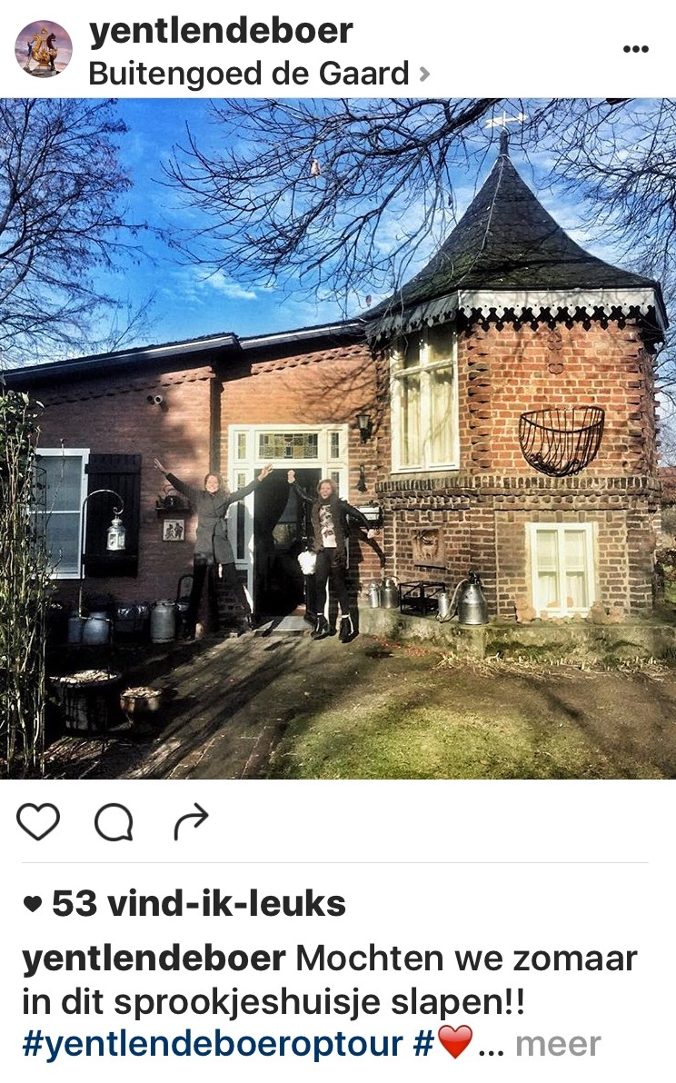 Yentl en de Boer sliepen in dit sprookjeshuisje, het Vierseizoenenhuisje, vakantiehuisje Midden-Limburg