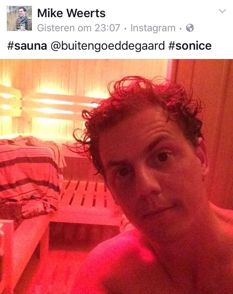 tweet mike weerts over de sauna weide wereld wellness bij buitengoed de gaard pipowagendeluxe mei 2016