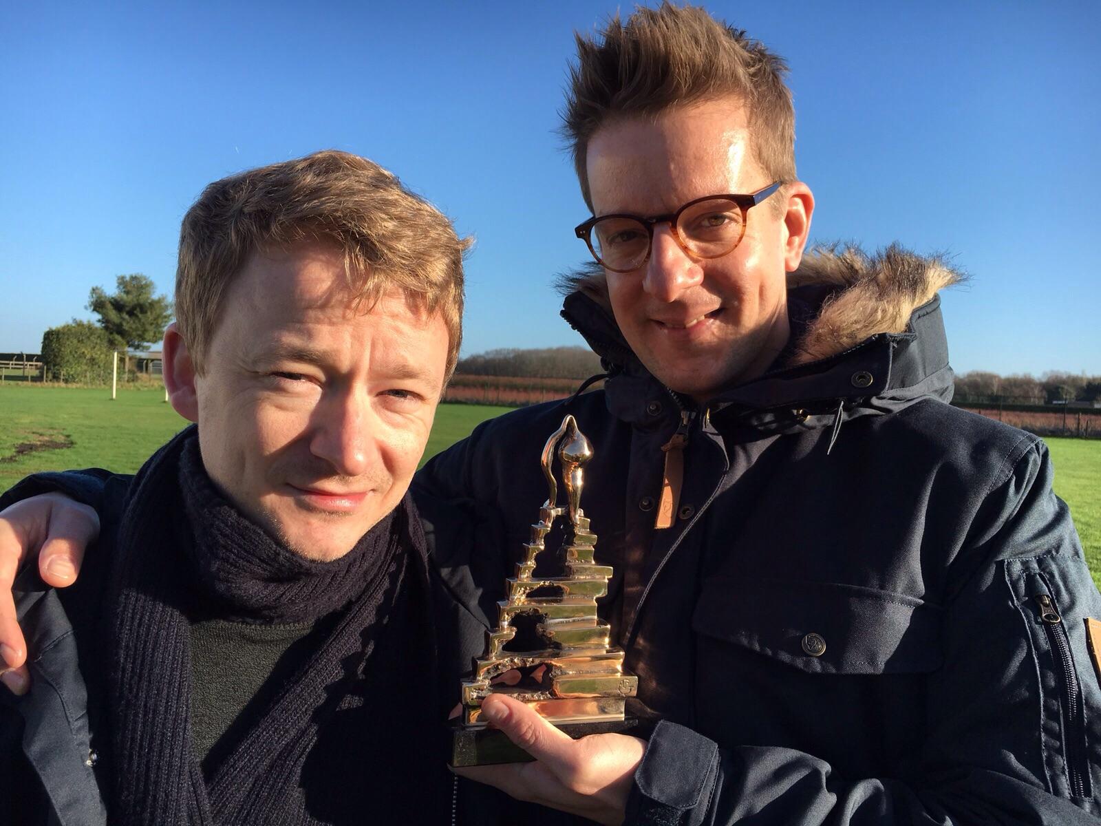 wart kamps en alex klaasen winnaars musical awards 2016 vieren feestje tijdens verblijf bij buitengoed de gaard leudal